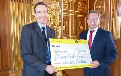 M. Dumberger unterstützt Ausbau des Fürstenzimmers