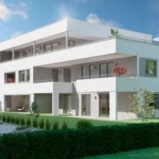 Mehrfamilienhäuser Langweid 2. BA, Haus 2 (Darstellung aus Sicht des Illustrators) - M. Dumberger Bauunternehmung GmbH & Co. KG
