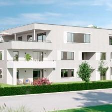 Mehrfamilienhäuser Langweid 2. BA, Haus 4 (Darstellung aus Sicht des Illustrators) - M. Dumberger Bauunternehmung GmbH & Co. KG