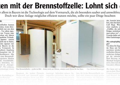 Heizen mit der Brennstoffzelle: Lohnt sich das? (Artikel Friedberger Allgemeine) - M. Dumberger Bauunternehmung GmbH & Co. KG