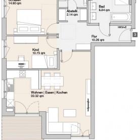 Wohnung 03 - Mehrfamilienhäuser Langweid 2. BA - M. Dumberger Bauunternehmung GmbH & Co. KG