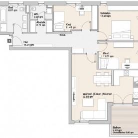 Wohnung 04 - Mehrfamilienhäuser Langweid 2. BA - M. Dumberger Bauunternehmung GmbH & Co. KG