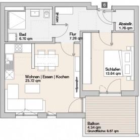 Wohnung 06 - Mehrfamilienhäuser Langweid 2. BA - M. Dumberger Bauunternehmung GmbH & Co. KG