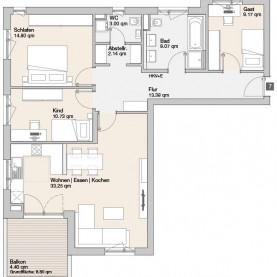 Wohnung 07 - Mehrfamilienhäuser Langweid 2. BA - M. Dumberger Bauunternehmung GmbH & Co. KG