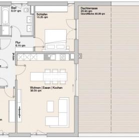 Wohnung 08 - Mehrfamilienhäuser Langweid 2. BA - M. Dumberger Bauunternehmung GmbH & Co. KG