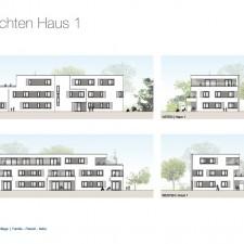 Ansichten Haus 1 - Mehrfamilienhäuser Langweid 2. BA - M. Dumberger Bauunternehmung GmbH & Co. KG