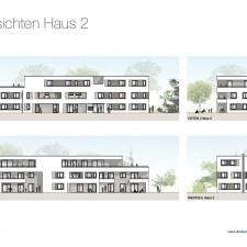 Ansichten Haus 2 - Mehrfamilienhäuser Langweid 2. BA - M. Dumberger Bauunternehmung GmbH & Co. KG