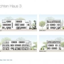 Ansichten Haus 3 - Mehrfamilienhäuser Langweid 2. BA - M. Dumberger Bauunternehmung GmbH & Co. KG