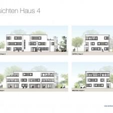 Ansichten Haus 4 - Mehrfamilienhäuser Langweid 2. BA - M. Dumberger Bauunternehmung GmbH & Co. KG