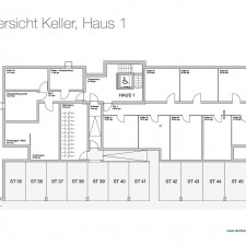 Kellergeschoß Haus 1 - Mehrfamilienhäuser Langweid 2. BA - M. Dumberger Bauunternehmung GmbH & Co. KG