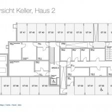 Kellergeschoß Haus 2 - Mehrfamilienhäuser Langweid 2. BA - M. Dumberger Bauunternehmung GmbH & Co. KG