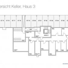Kellergeschoß Haus 3 - Mehrfamilienhäuser Langweid 2. BA - M. Dumberger Bauunternehmung GmbH & Co. KG
