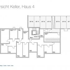 Kellergeschoß Haus 4 - Mehrfamilienhäuser Langweid 2. BA - M. Dumberger Bauunternehmung GmbH & Co. KG