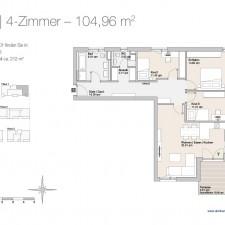 Wohnung 1 - Mehrfamilienhäuser Langweid 2. BA - M. Dumberger Bauunternehmung GmbH & Co. KG