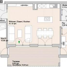 Wohnung 2 - Mehrfamilienhäuser Langweid 2. BA - M. Dumberger Bauunternehmung GmbH & Co. KG