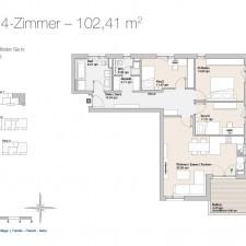 Wohnung 4 - Mehrfamilienhäuser Langweid 2. BA - M. Dumberger Bauunternehmung GmbH & Co. KG