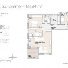 Wohnung 7 - Mehrfamilienhäuser Langweid 2. BA - M. Dumberger Bauunternehmung GmbH & Co. KG