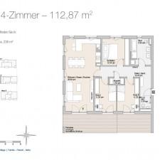 Wohnung 12 - Mehrfamilienhäuser Langweid 2. BA - M. Dumberger Bauunternehmung GmbH & Co. KG