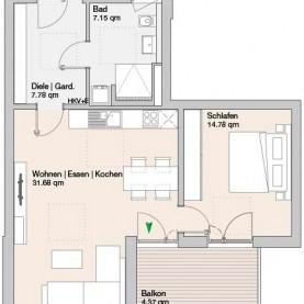 Wohnung 14 - Mehrfamilienhäuser Langweid 2. BA - M. Dumberger Bauunternehmung GmbH & Co. KG