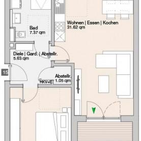 Wohnung 15 - Mehrfamilienhäuser Langweid 2. BA - M. Dumberger Bauunternehmung GmbH & Co. KG