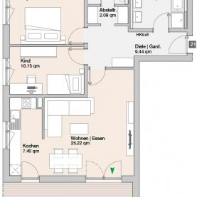 Wohnung 21 - Mehrfamilienhäuser Langweid 2. BA - M. Dumberger Bauunternehmung GmbH & Co. KG