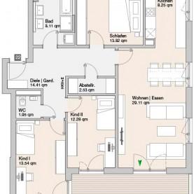Wohnung 22 - Mehrfamilienhäuser Langweid 2. BA - M. Dumberger Bauunternehmung GmbH & Co. KG