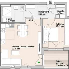Wohnung 23 - Mehrfamilienhäuser Langweid 2. BA - M. Dumberger Bauunternehmung GmbH & Co. KG