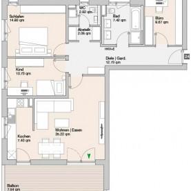Wohnung 24 - Mehrfamilienhäuser Langweid 2. BA - M. Dumberger Bauunternehmung GmbH & Co. KG