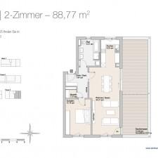 Wohnung 25 - Mehrfamilienhäuser Langweid 2. BA - M. Dumberger Bauunternehmung GmbH & Co. KG