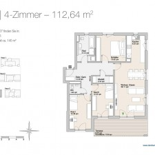 Wohnung 27 - Mehrfamilienhäuser Langweid 2. BA - M. Dumberger Bauunternehmung GmbH & Co. KG