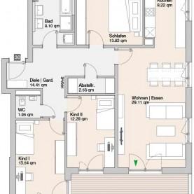 Wohnung 30 - Mehrfamilienhäuser Langweid 2. BA - M. Dumberger Bauunternehmung GmbH & Co. KG