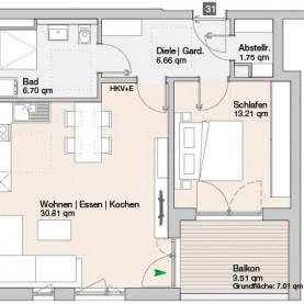 Wohnung 31 - Mehrfamilienhäuser Langweid 2. BA - M. Dumberger Bauunternehmung GmbH & Co. KG