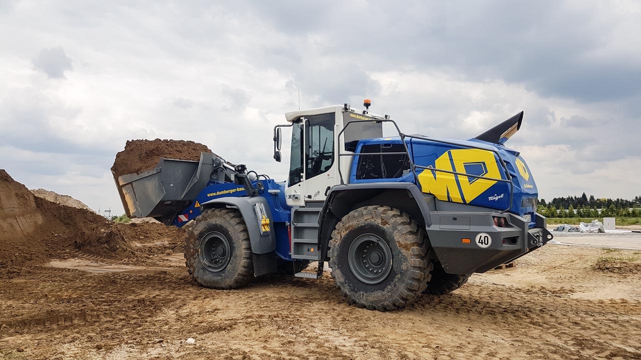 Unser neuer Maschinenpark - Lader Liebherr L550