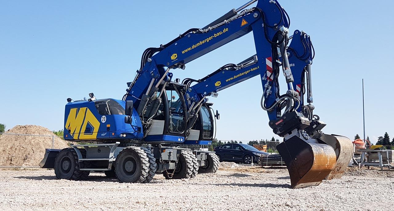 Unser neuer Maschinenpark - Bagger Liebherr A918, A924
