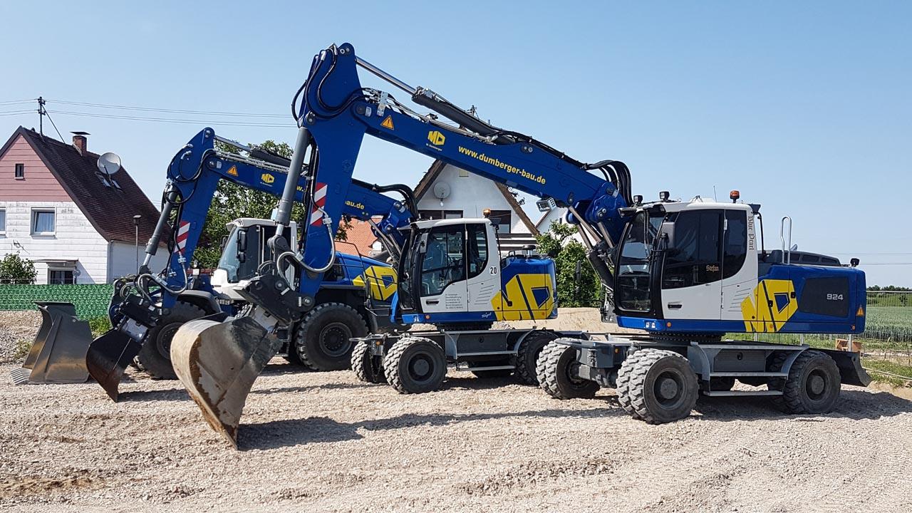 Unser neuer Maschinenpark - Lader und Bagger Liebherr L550, A918, A924