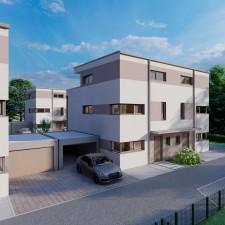 Doppelhäuser 5/6 - Langweid Village 3. BA (Darstellung aus Sicht des Illustrators) - M. Dumberger Bauunternehmung GmbH & Co. KG