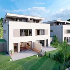 Doppelhäuser 1/2 - Langweid Village 3. BA (Darstellung aus Sicht des Illustrators) - M. Dumberger Bauunternehmung GmbH & Co. KG