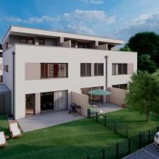 Reihenhäuser 3/4/5 - Langweid Village 3. BA (Darstellung aus Sicht des Illustrators) - M. Dumberger Bauunternehmung GmbH & Co. KG