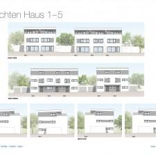 Ansichten Haus 1-5 - Reihen-/Doppelhäuser Langweid 3. BA - M. Dumberger Bauunternehmung GmbH & Co. KG