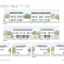 Ansichten Haus 11-15 - Reihen-/Doppelhäuser Langweid 3. BA - M. Dumberger Bauunternehmung GmbH & Co. KG
