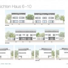 Ansichten Haus 6-10 - Reihen-/Doppelhäuser Langweid 3. BA - M. Dumberger Bauunternehmung GmbH & Co. KG