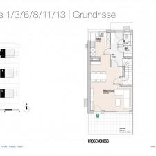 Grundriss EG Haus 1/3/6/8/11/13 - Reihen-/Doppelhäuser Langweid 3. BA - M. Dumberger Bauunternehmung GmbH & Co. KG