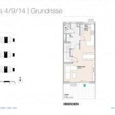 Grundriss EG Haus 4/9/14 - Reihen-/Doppelhäuser Langweid 3. BA - M. Dumberger Bauunternehmung GmbH & Co. KG