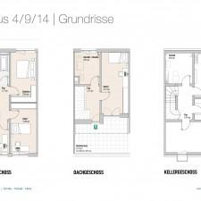 Grundrisse OG/DG/KG Haus 4/9/14 - Reihen-/Doppelhäuser Langweid 3. BA - M. Dumberger Bauunternehmung GmbH & Co. KG