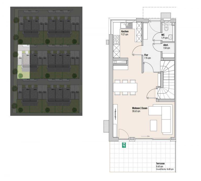 Haus 6 - Reihen-/Doppelhäuser Langweid 3. BA - M. Dumberger Bauunternehmung GmbH & Co. KG