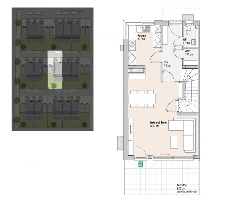 Haus 8 - Reihen-/Doppelhäuser Langweid 3. BA - M. Dumberger Bauunternehmung GmbH & Co. KG
