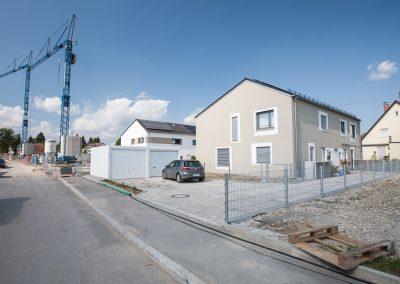 Doppelhäuser an der Hirblingerstraße, Augsburg-Bärenkeller im September 2020 – M. Dumberger Bauunternehmung GmbH & Co. KG