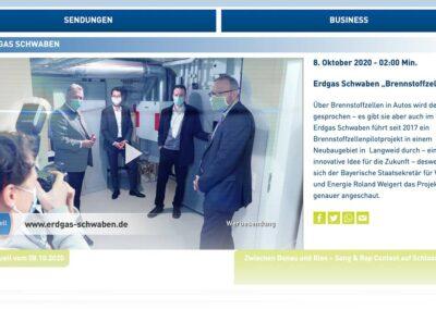 Interview und Bericht vom Besuch des STMWI auf a.tv (Screenshot)