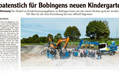 Spatenstich für Bobingens neuen Kindergarten