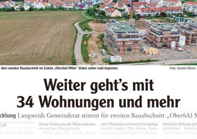 Weiter geht's mit 34 Wohnungen und mehr (Artikel Augsburger Allgemeine) - M. Dumberger Bauunternehmung GmbH & Co. KG
